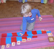 Montessori child learning